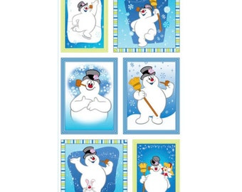 Frosty The Snowman Fabric Silly Snowman Fabric Panel Christmas Fabric By Quilting Treasures