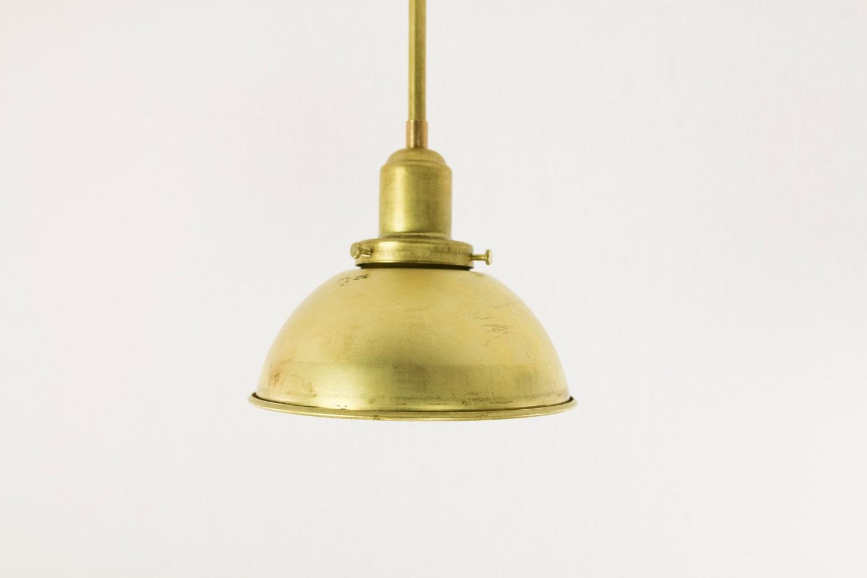 6 Brass Dome Pendant Light Fixtures