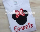 Personalized Minnie Mouse Shirt