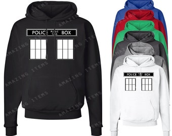 Police Public Call Box  Hoodie Funny Hooded Sweatshirts