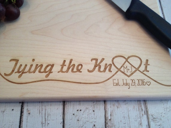 The Knot Wedding Gifts: Tying The Knot Personalized Wedding Gift Engraved Cutting