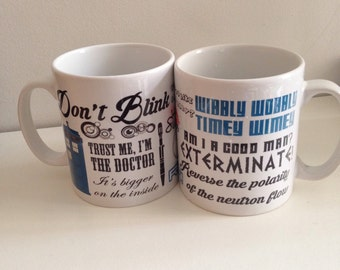 Dr Who inspired quote Mug. Timelord. Tea. Coffee. Me time. Tardis. The Doctor. Gift for Dr Who fans