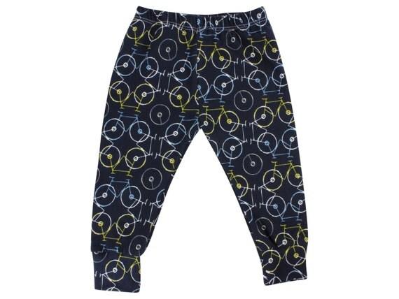 Bicycle Unisex Baby Leggings Bike Leggings Boy Leggings Girl or Boy Baby Pants Toddler Pants Bicycle Baby Pants Unisex Baby Clothing