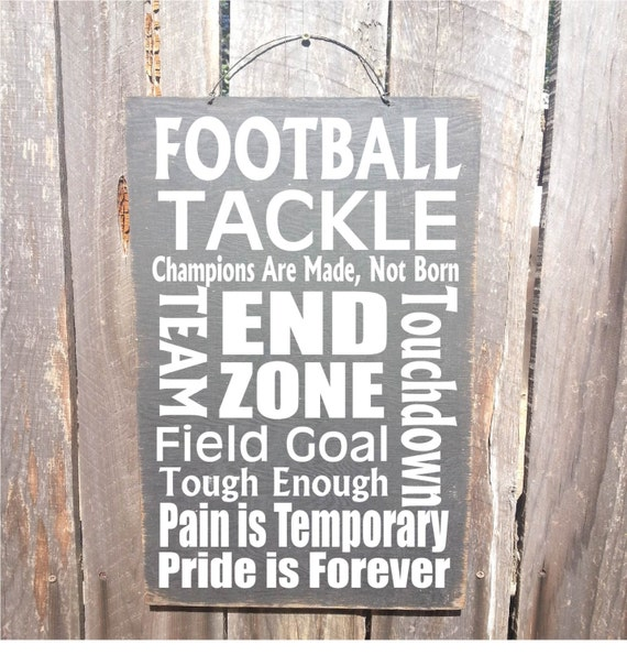 football, autumn decor, Football Sign, Football Words, Sports decor, Football decor, Father's Day Gift, Gift for Dad,