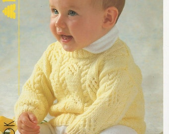 Baby Sweater Knitting Pattern, Baby Slipover Knitting Pattern, Baby Knitting Pattern, Patterns child, Baby Cable Knit Sweater Pattern