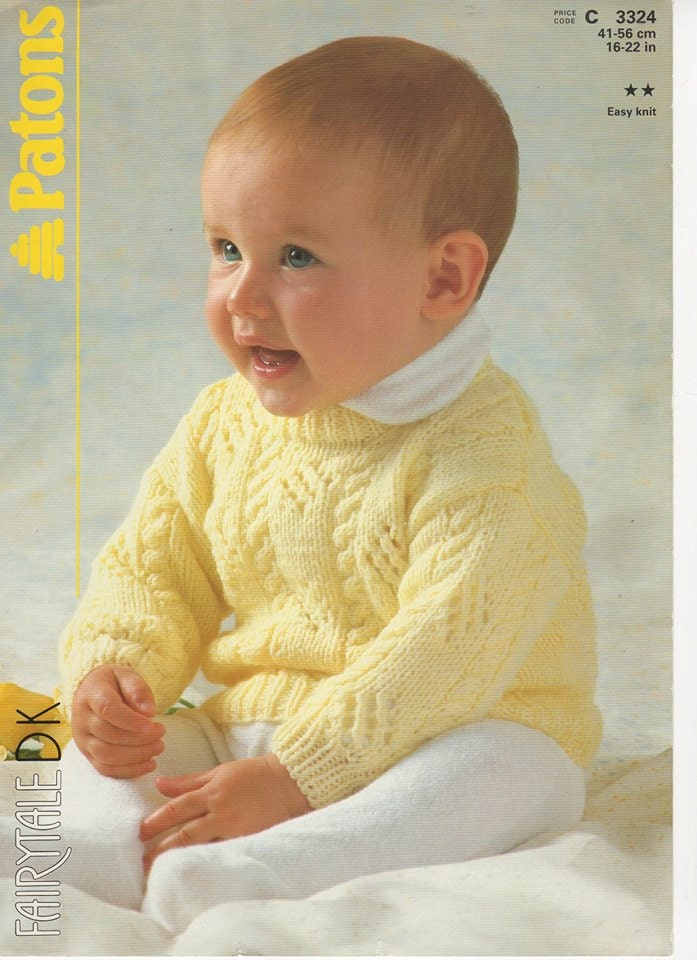 Baby Pullover Sweater Knitting Pattern : Baby Sweater Knitting Pattern Baby Slipover Knitting Pattern