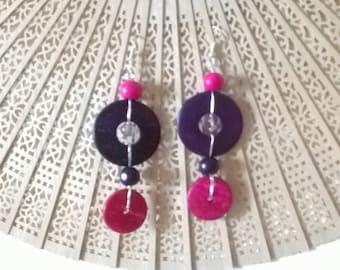 Earrings in Violet fiberglass