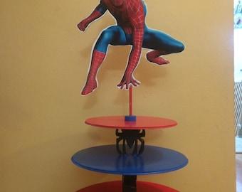 Spiderman Cupcake stand