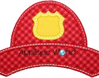 Fireman Hat Monogram Applique