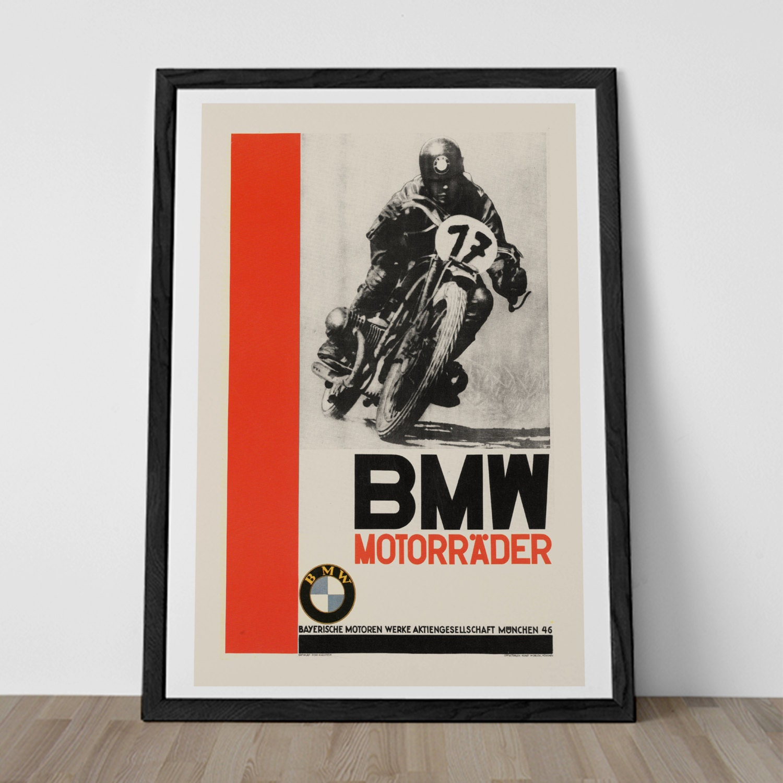 Vintage Bmw Poster Art Deco Print By Encoreprintsociety On
