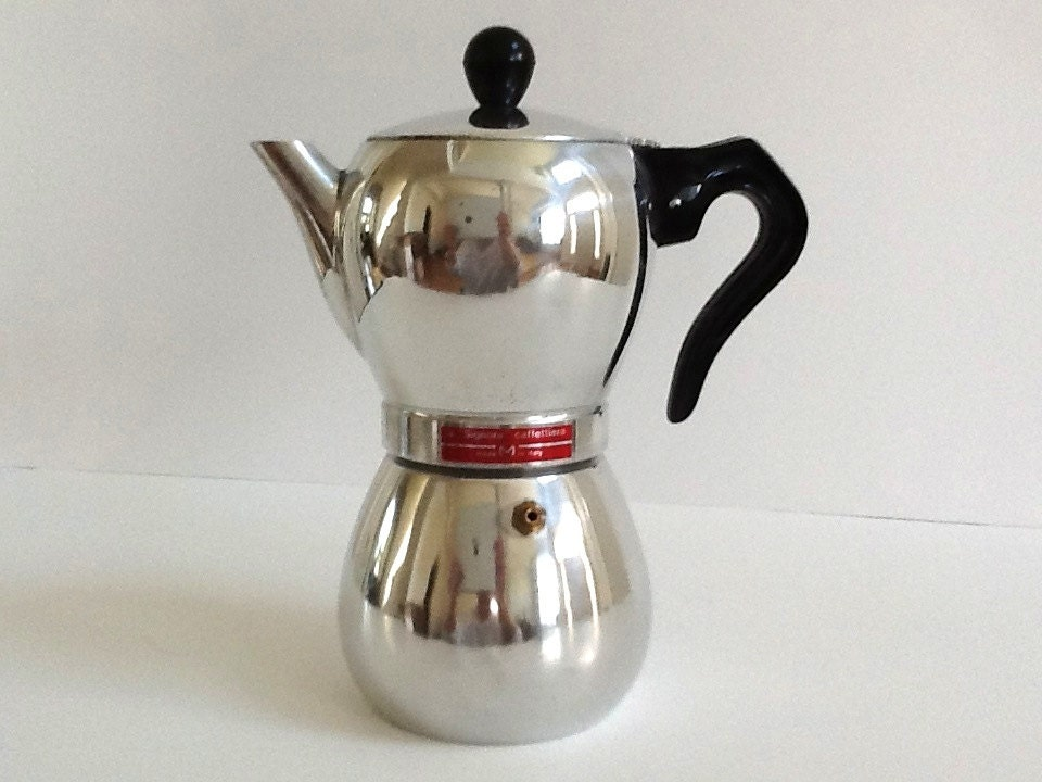 Coffee Maker Signora : Mid Century Modern La Signora-Caffettiera Stove Top by GentlyKept