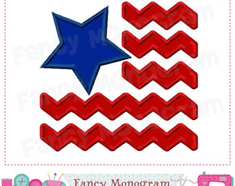 The star-spangled Banner,4th of July,Chevron Flag applique,4th of July applique,Chevron Flag,USA,Independence Day.-14