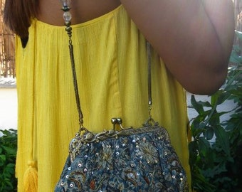 Vintage Embroidered Handbag