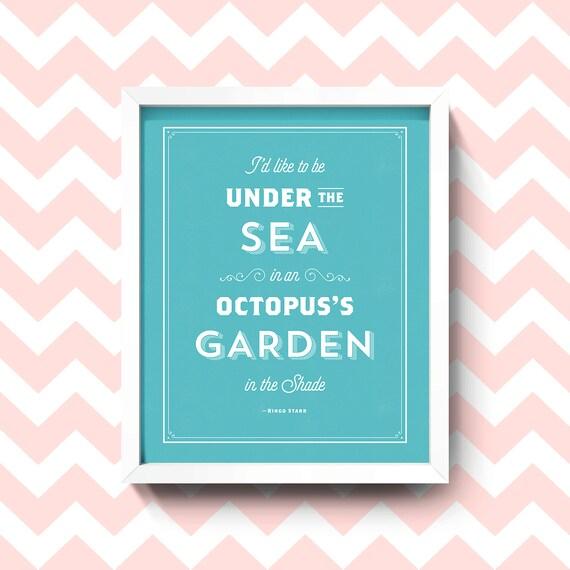 Gicl E Print Octopus 39 S Garden Beatles Lyric 8x10 By Popmat