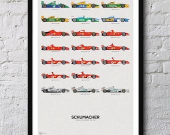 Schumacher F1 Poster