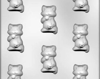 Kitty With Daisy Chocolate Candy Mold Kitten Cat Soap Crafts