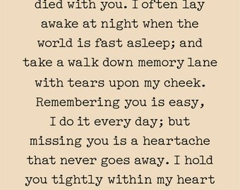 The Moment You Left Me Print, Canvas, or Wood Sign - Sympathy Gift, Memorial Gift