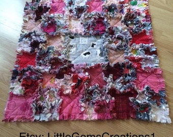 Baby Quilt  Completed handmade small rag quilt x 1