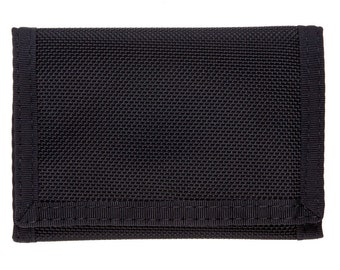 Tri Fold Velcro Wallet - Nylon Ballistic - Made In USA
