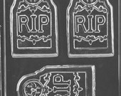 RIP Tombstone Bar Soap Mold, H171