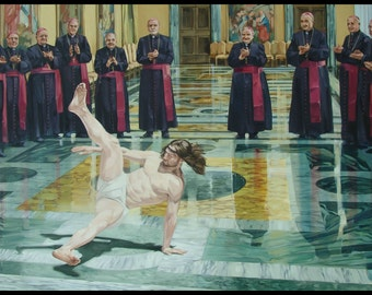 Jesus Christ Breakdancer B Boy  TSHIRT t-shirt