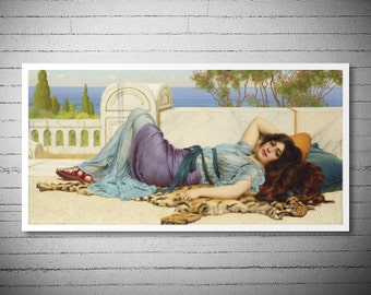 Bethrothed by John William Godward -  Poster Paper, Sticker or Canvas Print