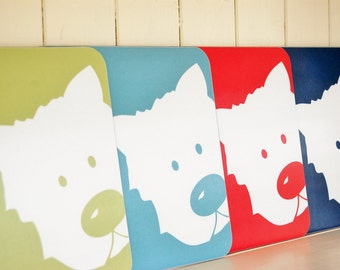 Peek a Boo Dog Placemats (Set of Four)
