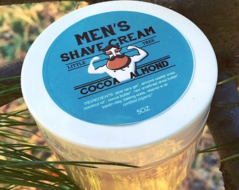 Cocoa Almond Shave Cream: Vegan/ Organic/All Natural/ Homemade