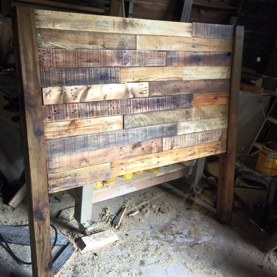 Custom reclaimed wood headboard local pickup only austin for Local reclaimed wood