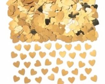 Golden hearts table confetti, weddings, wedding supplies, wedding decorations, table decorations, UK seller