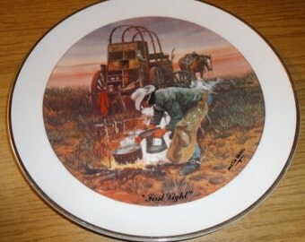 "Vintage Austin Deuel Collector Plate""First Light"""
