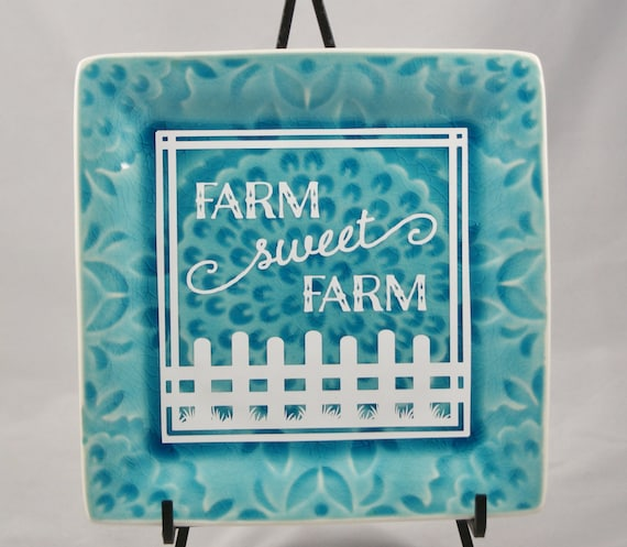 Farm Sweet Farm - Farm House Decor - Rural living - Country Life - Love of Farming - Gift for Farmer - Picket Fences - FFA - Agriculture