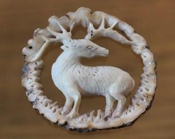 Genuine Deer Antler Carving, Caribou, Reindeer, Elk, Deer