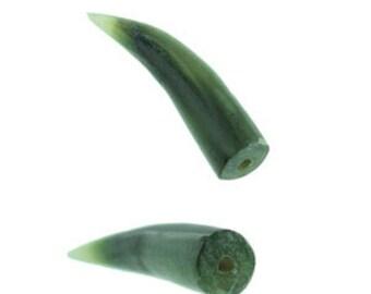 23X6mm Genuine Jade Horns (12pcs)