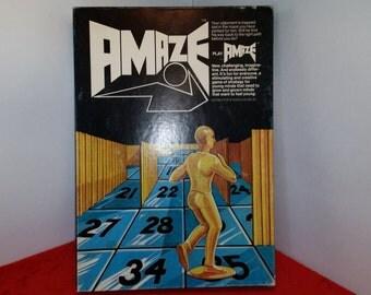 Vintage amaze game / 1976 fun things inc. / maze game
