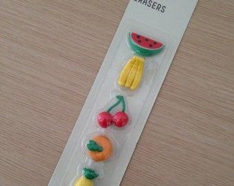Set of 5 fruit erasers (OV01)