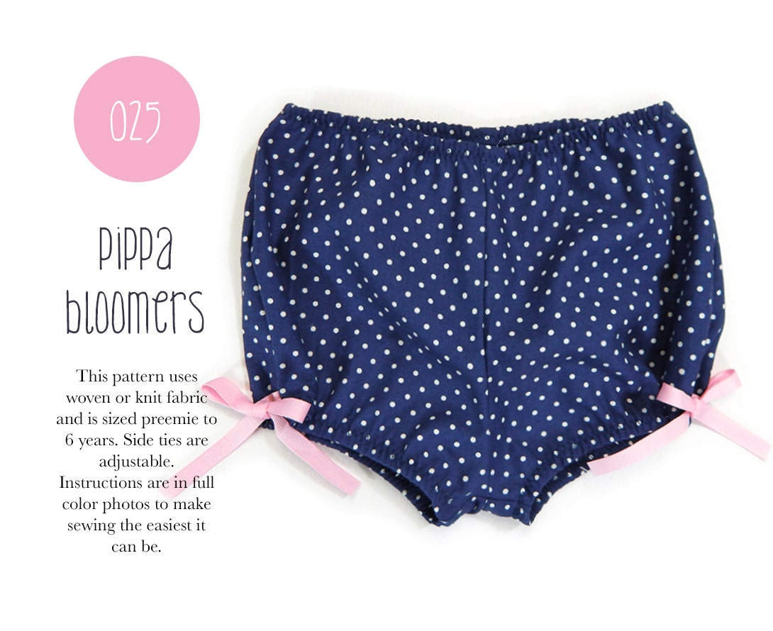 025 pippa bloomers pdf sewing pattern baby kid woven or knit this is a digital file bankloansurffo Images