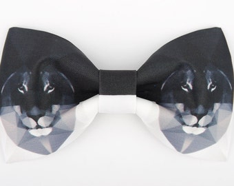 Lion Bowtie - Modern Boys Bowtie, Toddler Bowtie Toddler Bow tie,Pre Tied and Adjustable