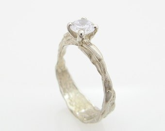 unique promise ring womens diamond ring unique diamond ring alternative promise ring - Nature Inspired Wedding Rings