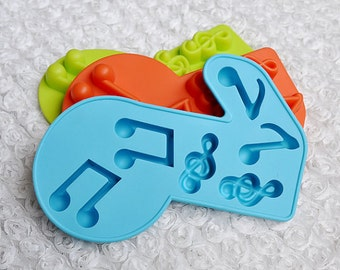 6-cavities Music Note mold Ice Mold Silicone Cake Mold Handmade Chocolate Mould Ice tray cube pudding mould handmade soap mold Baking tools