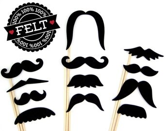 Mustache Photo Props - Little Man Photobooth Mustaches