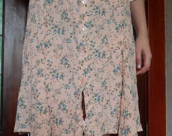 Pink floral skirt