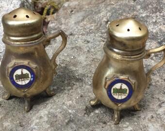 Vintage Salt & Pepper Shakers - Old Capitol - Williamsburg, Virginia - Sterling Silver