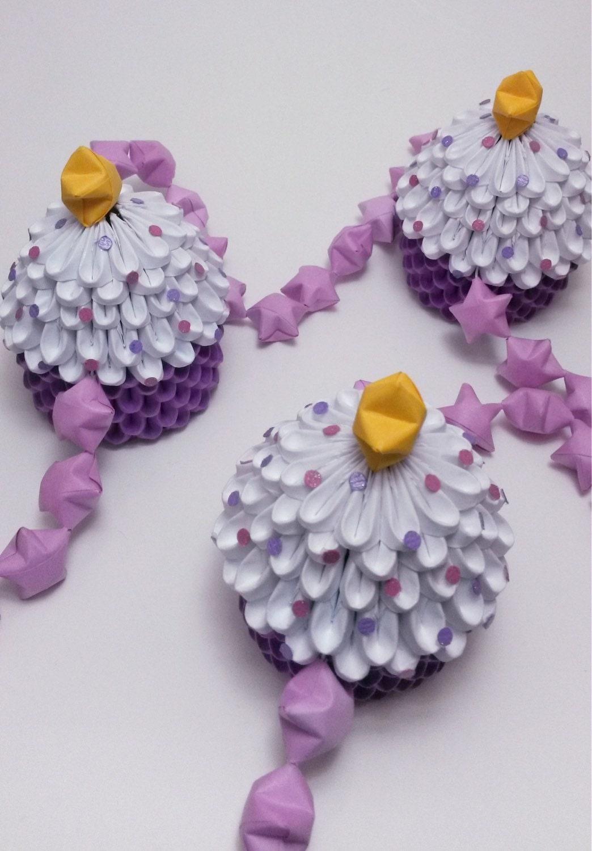 how to make an origami cupcake