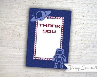 Space Thank You Card Printable