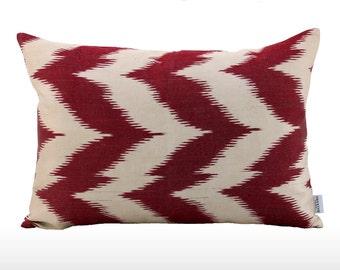 Silk Ikat Pillow: Sail