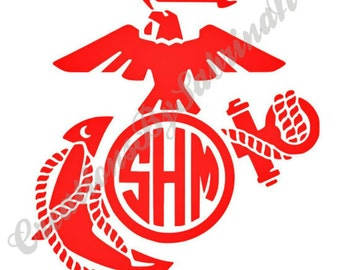Marine Corps Decal With Monogram