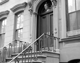 New York Photography, Black and White, Greenwich Village, West Village, Carrie's Apartment, NYC, Brownstones, Manhattan, Architecture