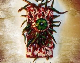 Horror Halloween Scary Tentacle Monster Teeth Mutation Eyeball Pendant Necklace Cthulhu
