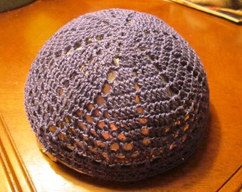 yarmulke / kippah  Purple six point